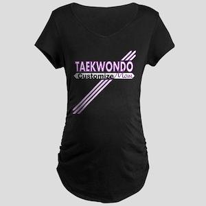 Taekwondo Mom Maternity Dark T-Shirt