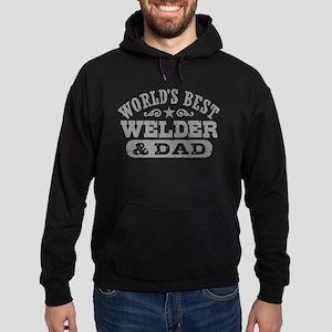 World's Best Welder and Dad Hoodie (dark)