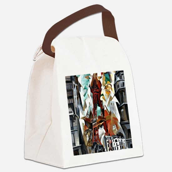 Delaunay - The Red Tower Canvas Lunch Bag