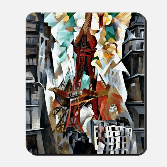 Delaunay - The Red Tower Mousepad
