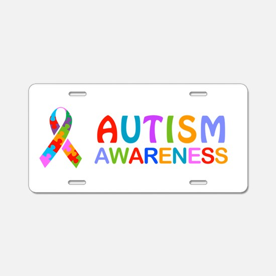 Autism Awareness Ribbon Aluminum License Plate