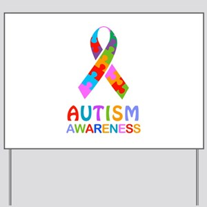 Autism Awareness Ribbon Yard Sign