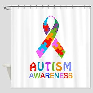 Autism Awareness Ribbon Shower Curtain