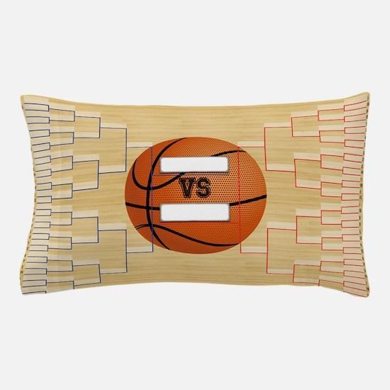 Basketball March Madness Bracket-01-01 Pillow Case