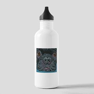 French Bulldog Face Water Bottle