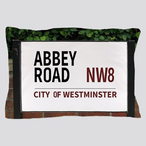 Abbey Road street sign Pillow Case