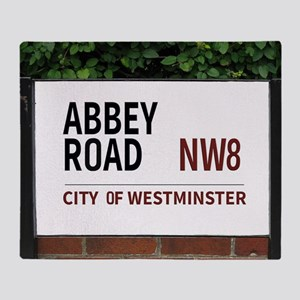 Abbey Road street sign Throw Blanket