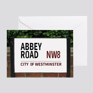 Abbey Road street sign Greeting Card