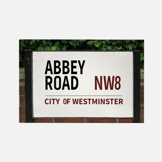 Abbey Road street sign Rectangle Magnet