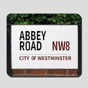 Abbey Road street sign Mousepad
