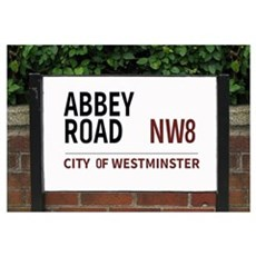 Abbey Road street sign Canvas Art