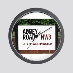 Abbey Road street sign Wall Clock