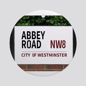 Abbey Road street sign Ornament (Round)