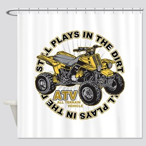 Plays in the Dirt ATV Shower Curtain