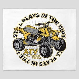 Plays in the Dirt ATV King Duvet