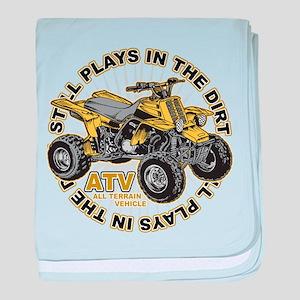 Plays in the Dirt ATV baby blanket