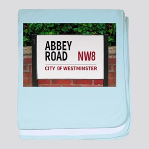 Abbey Road street sign baby blanket