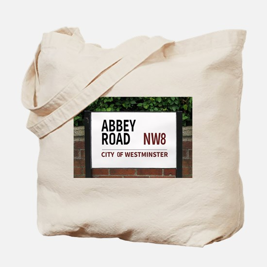 Abbey Road street sign Tote Bag