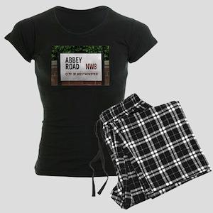 Abbey Road street sign Women's Dark Pajamas