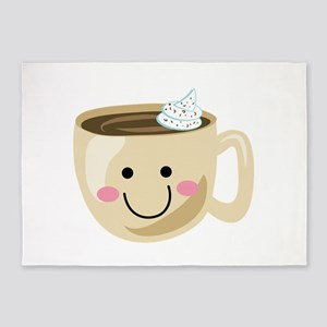 Happy Coffee 5'x7'Area Rug