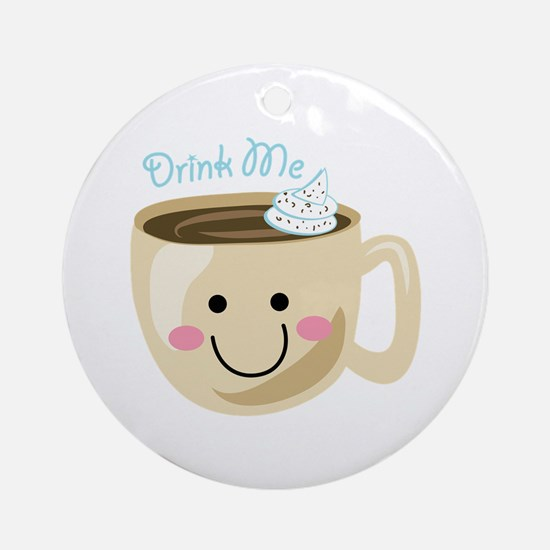 Drink Me Ornament (Round)
