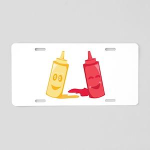 Ketchup & Mustard Aluminum License Plate