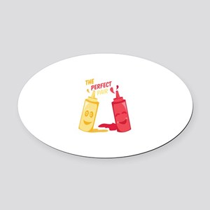 Perfect Pair Oval Car Magnet