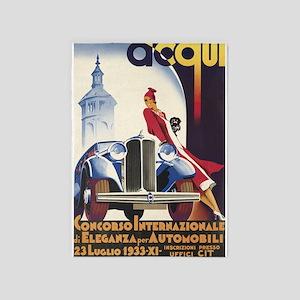 Vintage Italian Car Show Poster 5'x7'area