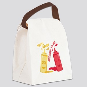 Ketchup To Me Canvas Lunch Bag