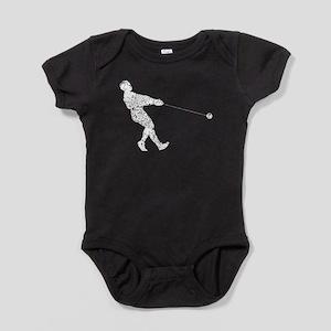 Distressed Hammer Throw Silhouette Baby Bodysuit