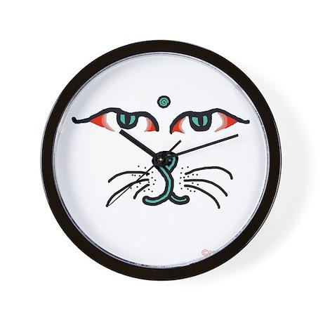 WATCHFUL EYES OF BUDDHA CAT Wall Clock