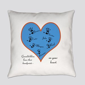 Handprints on your heart - 7 kids Everyday Pillow