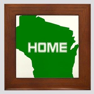 Wisconsin is Home Framed Tile