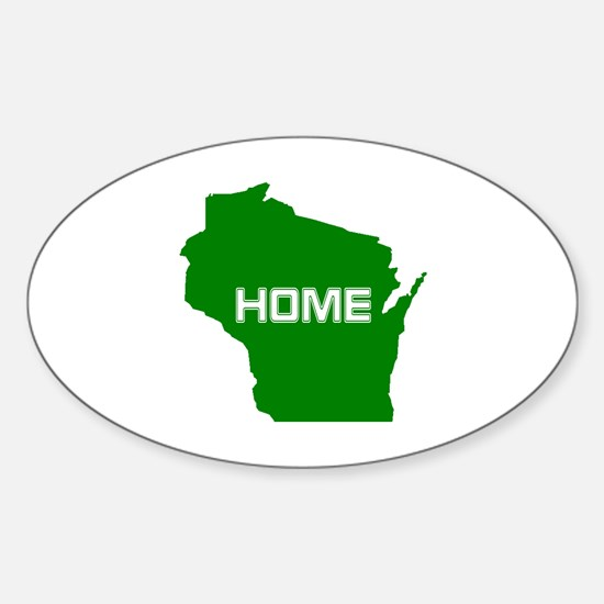 Wisconsin is Home Sticker (Oval)