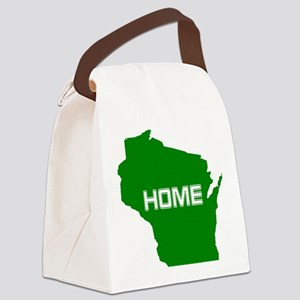 Wisconsin is Home Canvas Lunch Bag