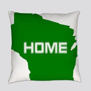 Wisconsin is Home Everyday Pillow