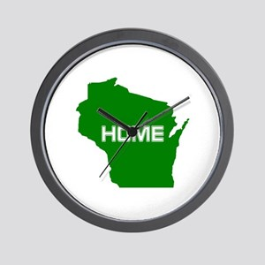 Wisconsin is Home Wall Clock