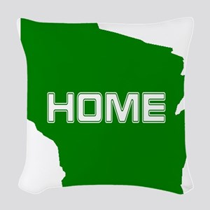 Wisconsin is Home Woven Throw Pillow