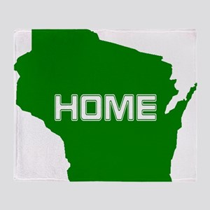 Wisconsin is Home Throw Blanket