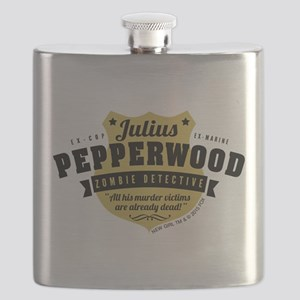 New Girl Julius Pepperwood Flask
