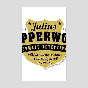 New Girl Julius Pepperwood Sticker (Rectangle)