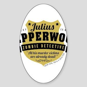 New Girl Julius Pepperwood Sticker (Oval)