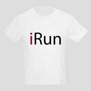 iRun (red) Kids Light T-Shirt