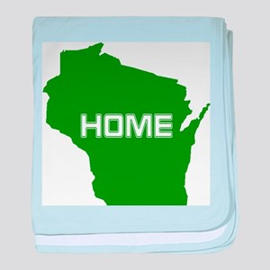 Wisconsin is Home baby blanket