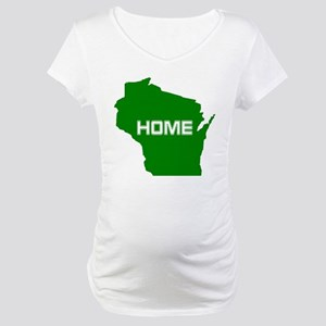 Wisconsin is Home Maternity T-Shirt