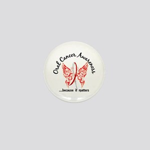 Oral Cancer Butterfly 6.1 Mini Button