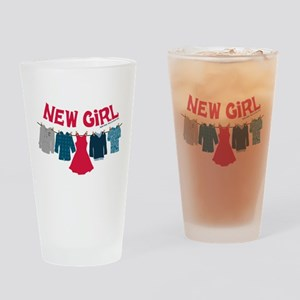 New Girl Laundry Drinking Glass