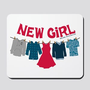 New Girl Laundry Mousepad
