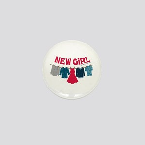 New Girl Laundry Mini Button