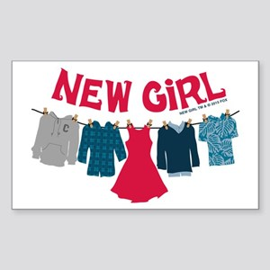 New Girl Laundry Sticker (Rectangle)